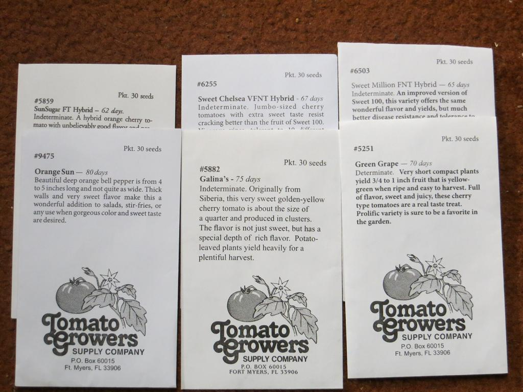 Swallowtail Garden Seeds · 20140105_1012   Seeds From Tomato Growers Supply  Company